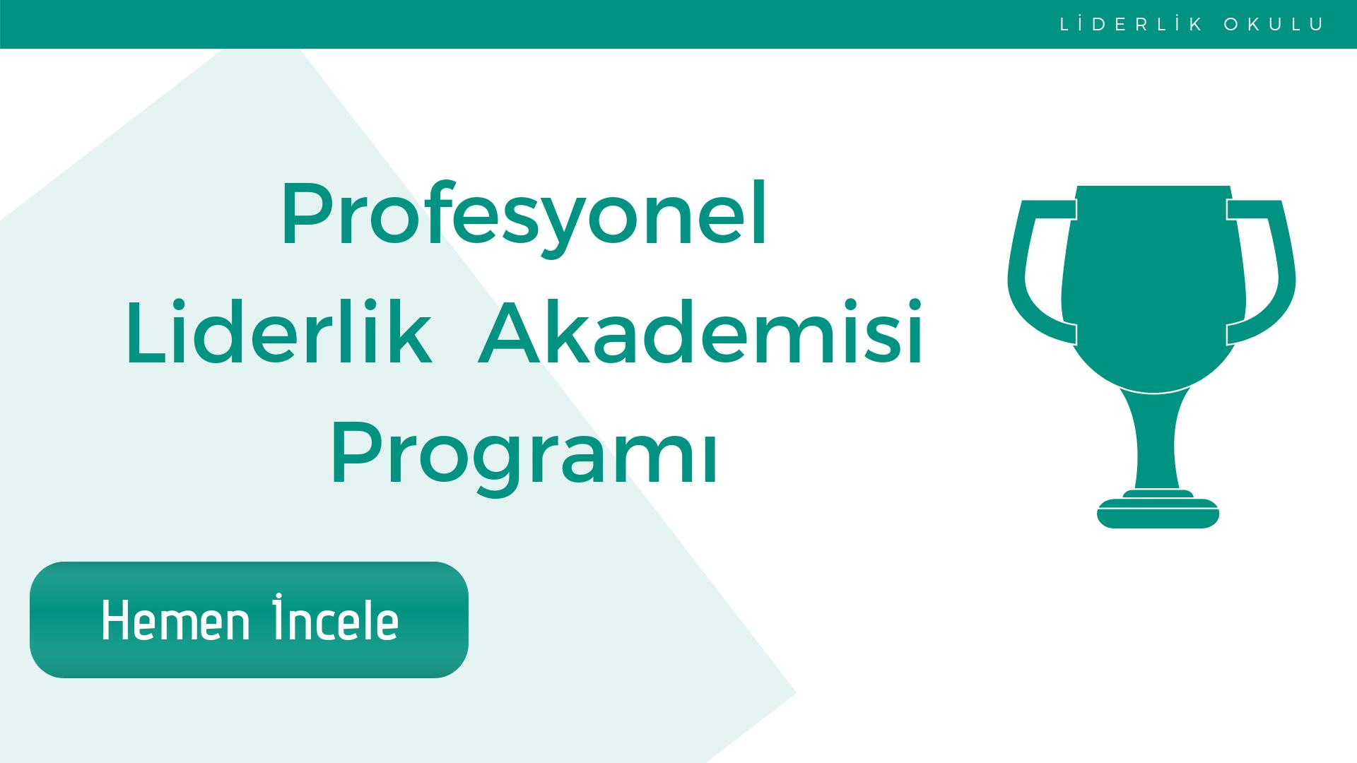 Profesyonel Liderlik Akademisi Programı